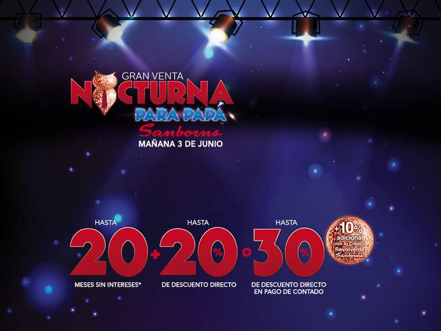 Venta Nocturna Sanborns junio 2016