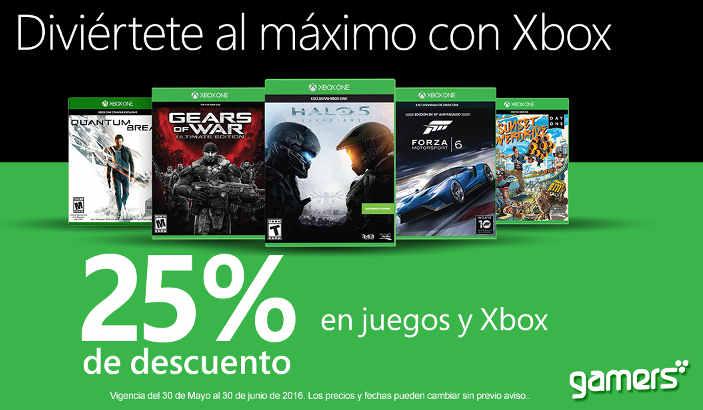 Xbox Live descuento en juegos de Xbox