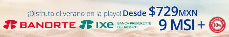 Promoción Interjet Banorte 10% de bonificación y 9 meses sin intereses