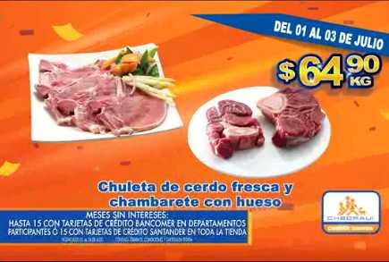 Chedraui ofertas de carnes del 1 al 3 de julio