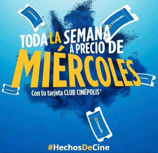 Cinépolis promociones con tarjeta Club Cinépolis