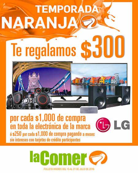 Folleto Temporada Naranja en La Comer Julio Regalado 2016