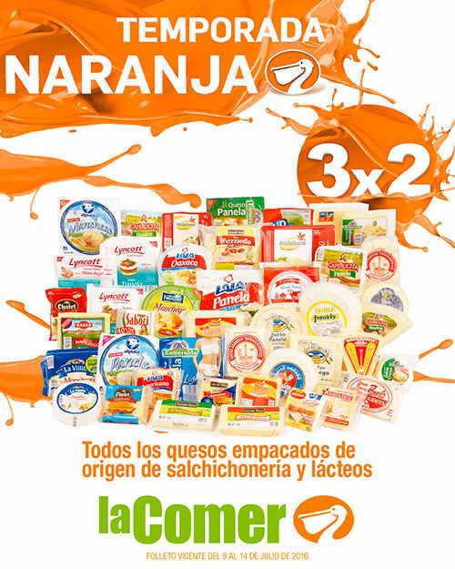 Folleto Temporada Naranja en La Comer del 8 al 14 de Julio