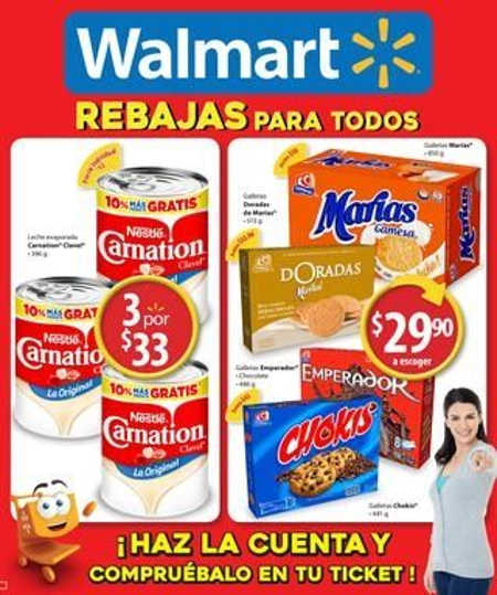 Folleto Walmart julio agosto 2016