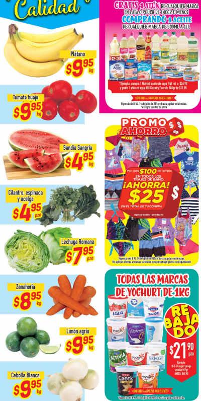 Ofertas de frutas y verduras en HEB Julio