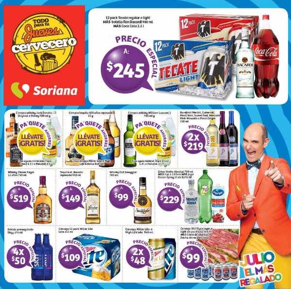 Jueves Cervecero Soriana del 21de Julio