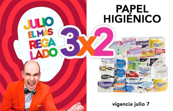 Julio Regalado 2016 3x2 en papel higiénico