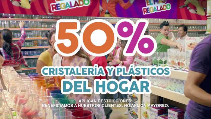 Promoción Julio Regalado 3x2 en cremas y 50% en cristalería y plásticos