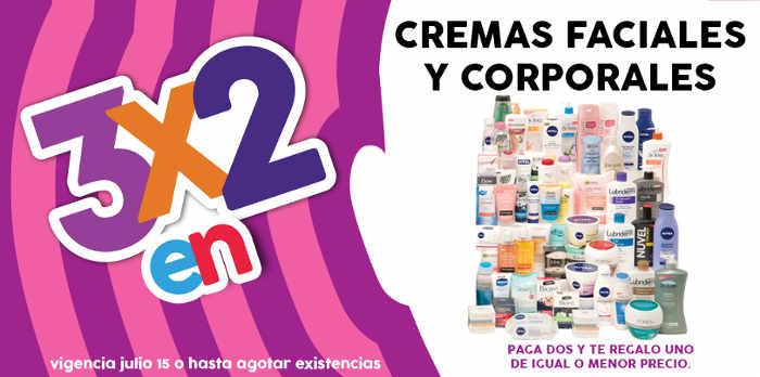 Promoción Julio Regalado 3×2 en cremas faciales y corporales
