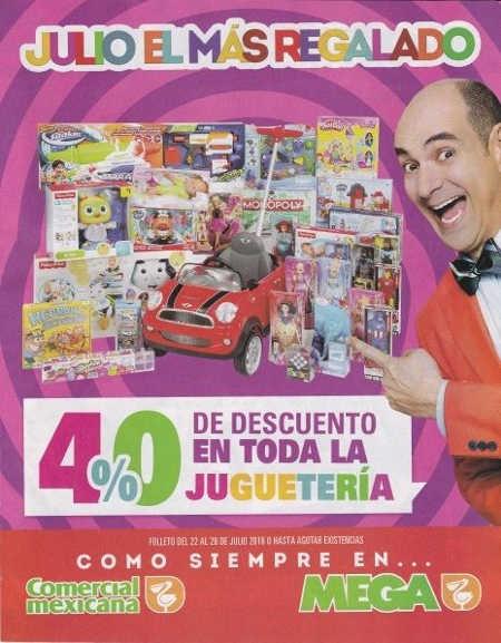 Promoción de Julio Regalado 40% de descuento en toda la juguetería