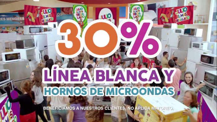 Promoción Julio Regalado 2016 descuentos en Línea Blanca y Hornos de Microondas