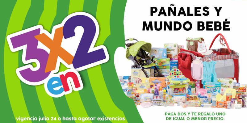 Promoción de Julio Regalado 3x2 en pañales y todo para bebés