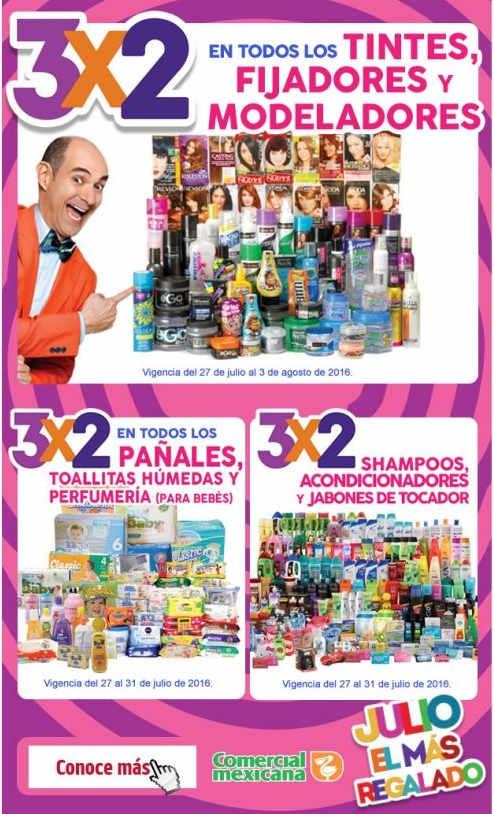 Julio Regalado 3x2 en pañales, tintes, shampoo, acondicionadores y jabón en barra