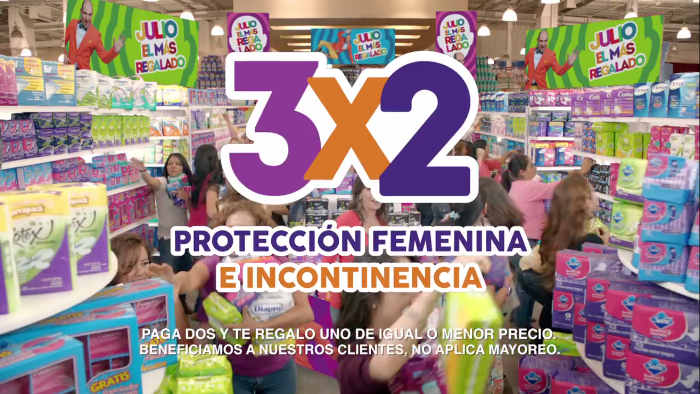 Promocion Julio Regalado 3×2 en protección femenina e incontinencia