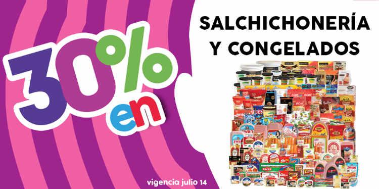 Promoción Julio Regalado 2016 descuentos en salchichoneria, quesos y congelados