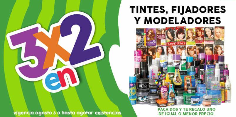 Promoción Julio Regalado 3×2 en tintes, fijadores y modeladores