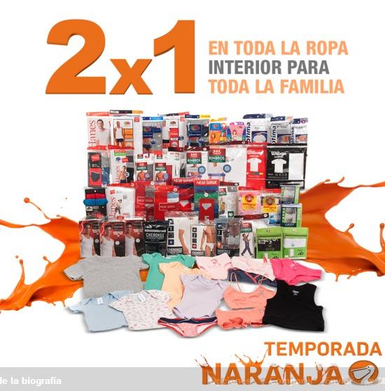 Temporada Naranja en La Comer 2x1 en toda la ropa interior