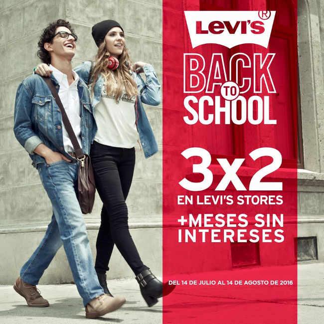 Levis Back to School 3×2 en Levis Store y 6 meses sin intereses