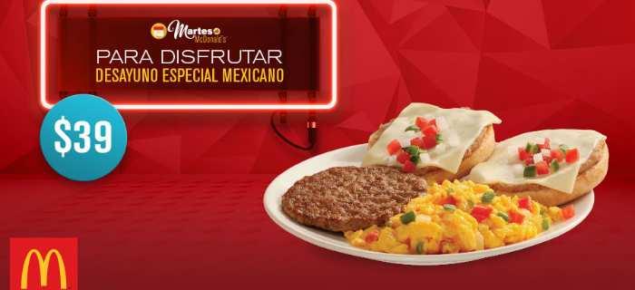 McDonalds desayuno especial mexicano por $39