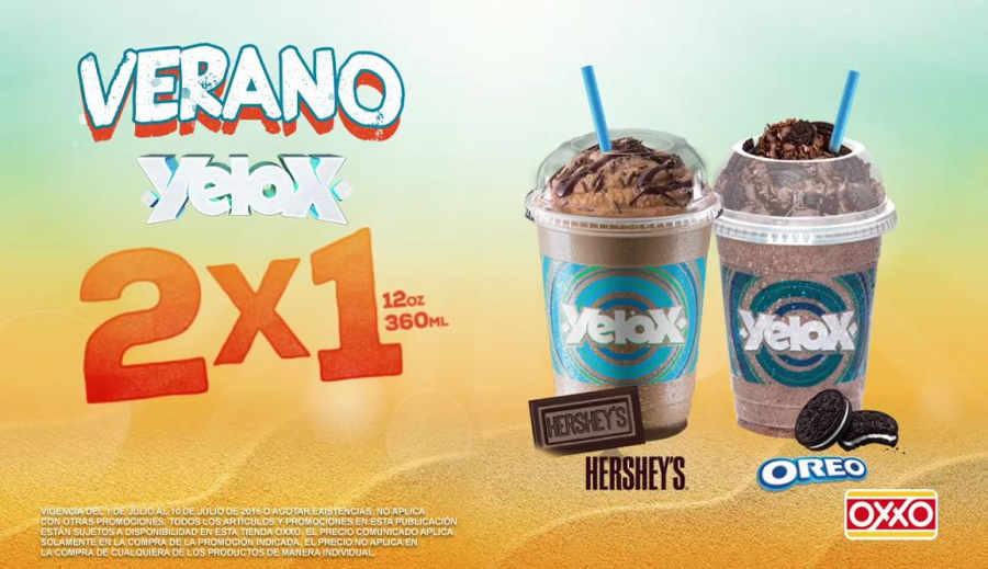 Promoción Oxxo 2x1 en Yelox del 1 al 10 Julio