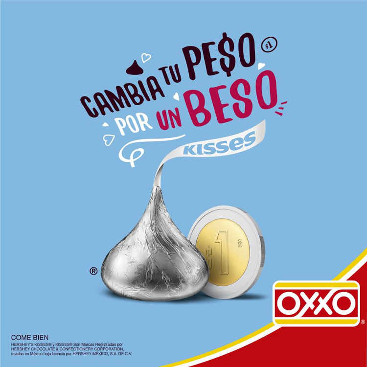 Oxxo Hershey's Kisses a $1 peso