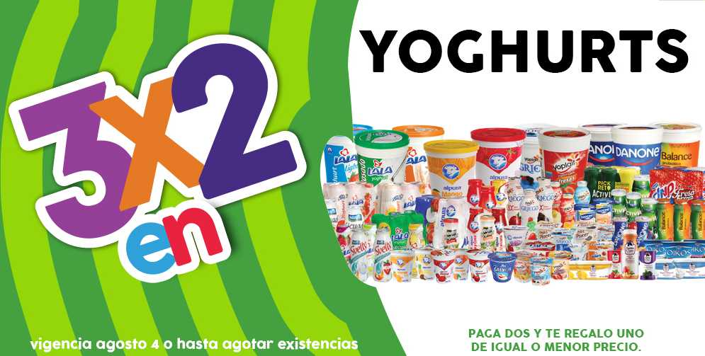 Promoción Julio Regalado 2016 en Soriana y Comercial Mexicana 3x2 en todos los Yoghurt