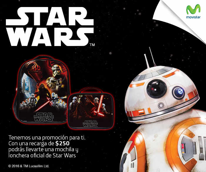 Promoción Movistar Mochila Star Wars Gratis