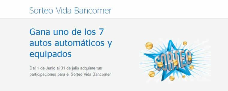 Promoción Vida BBVA Bancomer Gana Dinero y Autos