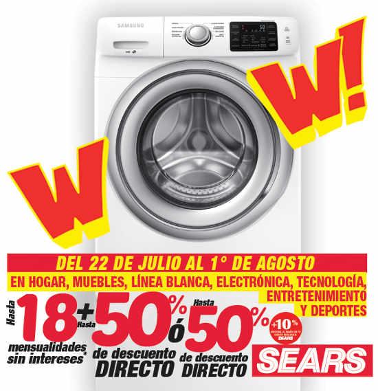 Rebajas Sears descuentos en Hogar, Muebles, Línea Blanca, Electrónica, Tecnología, Entretenimiento y Deportes.