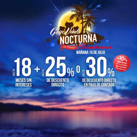 Venta Nocturna Sanborns Julio 2016