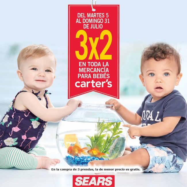 Sears 3×2 en toda la mercancía para bebés carters