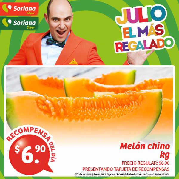 Soriana promociones tarjeta recompensas lealtad del 8 al 11 de julio