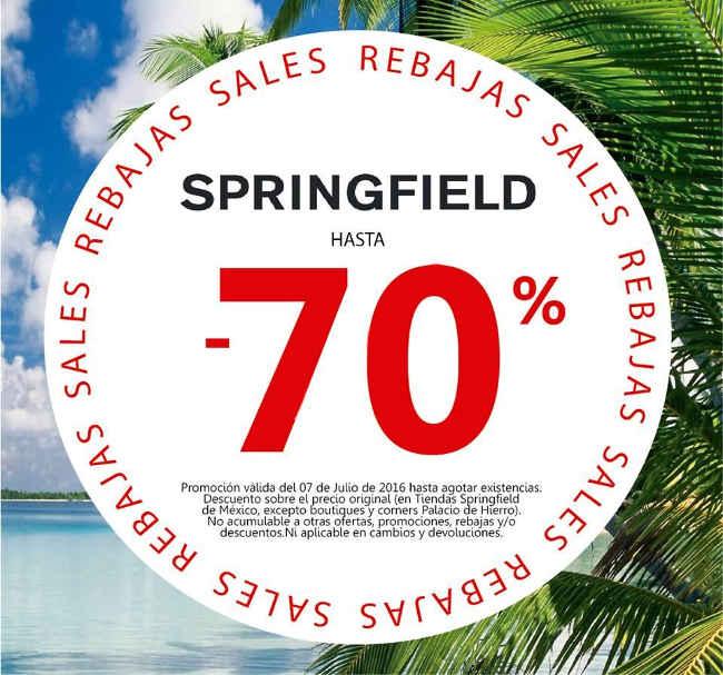 Springfield rebajas de hasta 70% de descuento