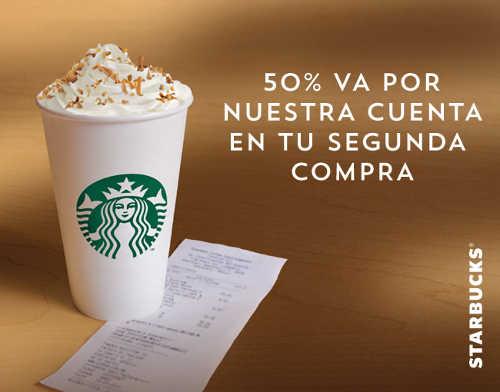 Starbucks descuento en segunda compra con tarjetas Banorte