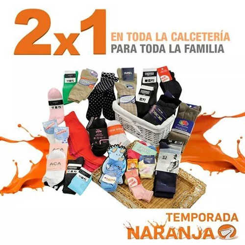 Temporada Naranja en La Comer 2x1 en calcetines para toda la familia