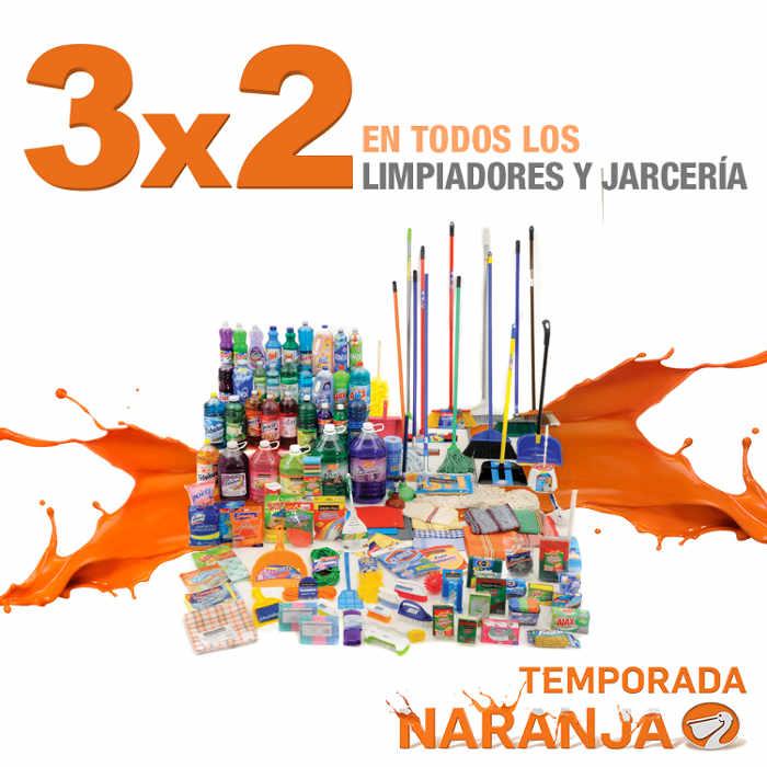 Temporada Naranja en La Comer 3×2 en limpiadores y jarciería