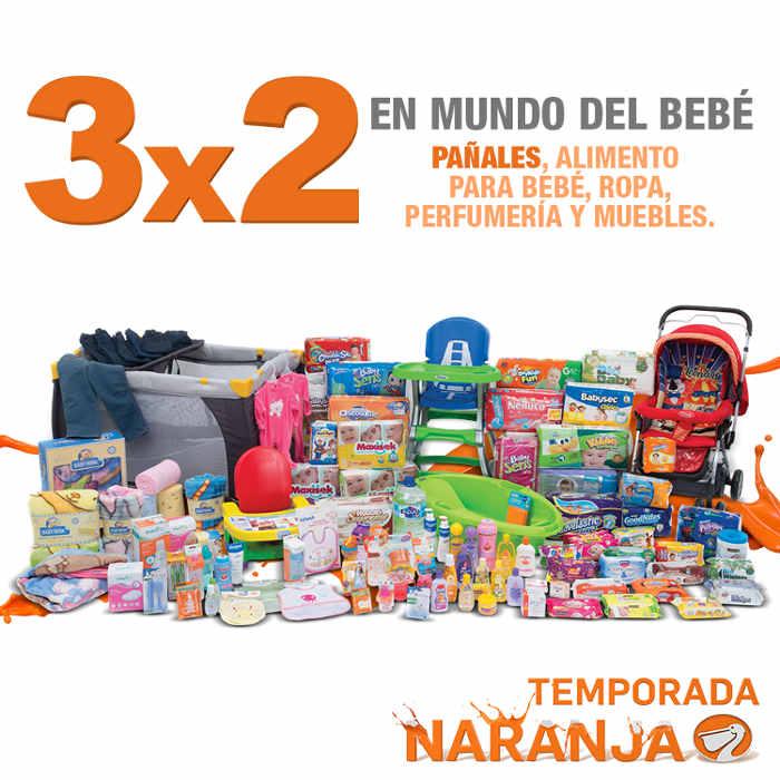 Temporada Naranja en La Comer 3x2 en pañales y todo para bebés
