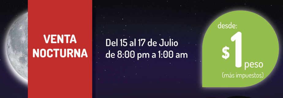 Venta Nocturna Vivaaerobus julio 2016