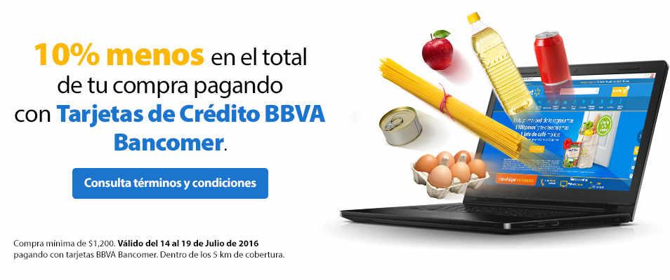 Walmart 10% de descuento en Súper con BBVA Bancomer