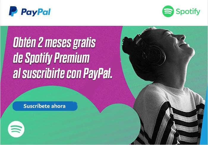 2 meses de Spotify Premium Gratis al suscribirte con Paypal