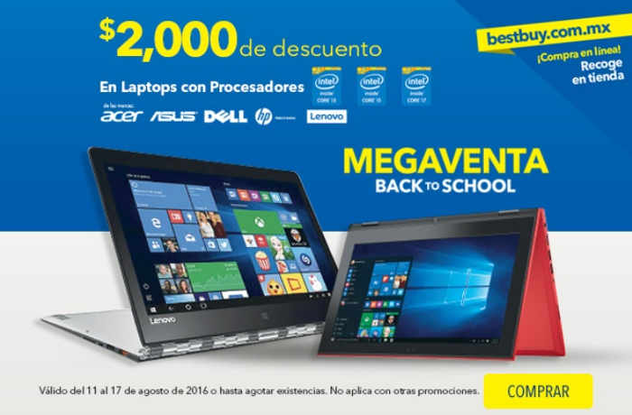 Megaventa Back to School en Best Buy