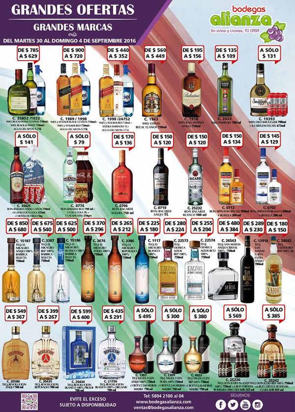 Bodegas Alianza ofertas de vinos y licores
