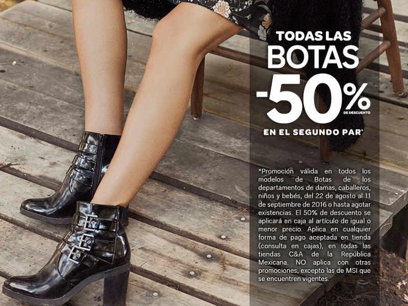 C&A 50% de descuento en el segundo par de botas