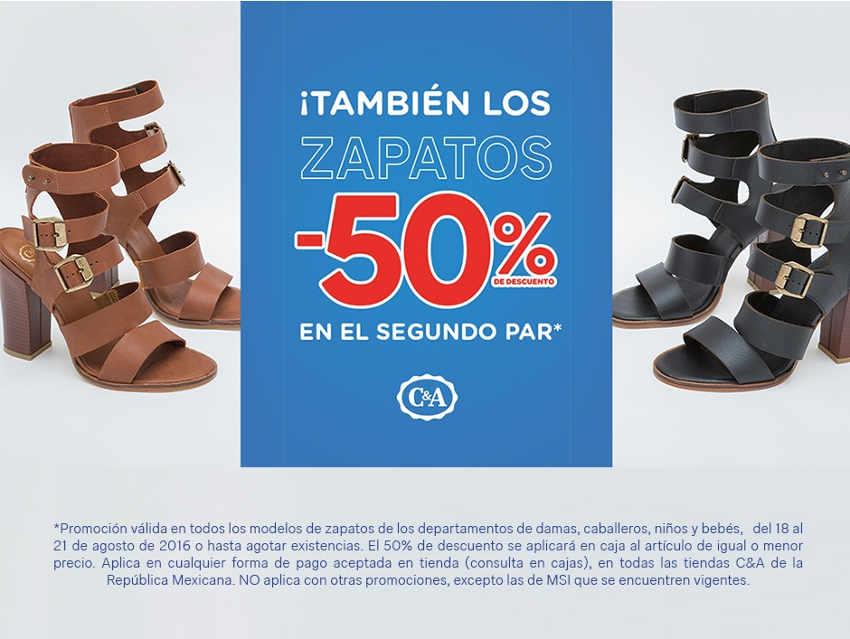 C&A 50% de descuento en el segundo par de zapatos