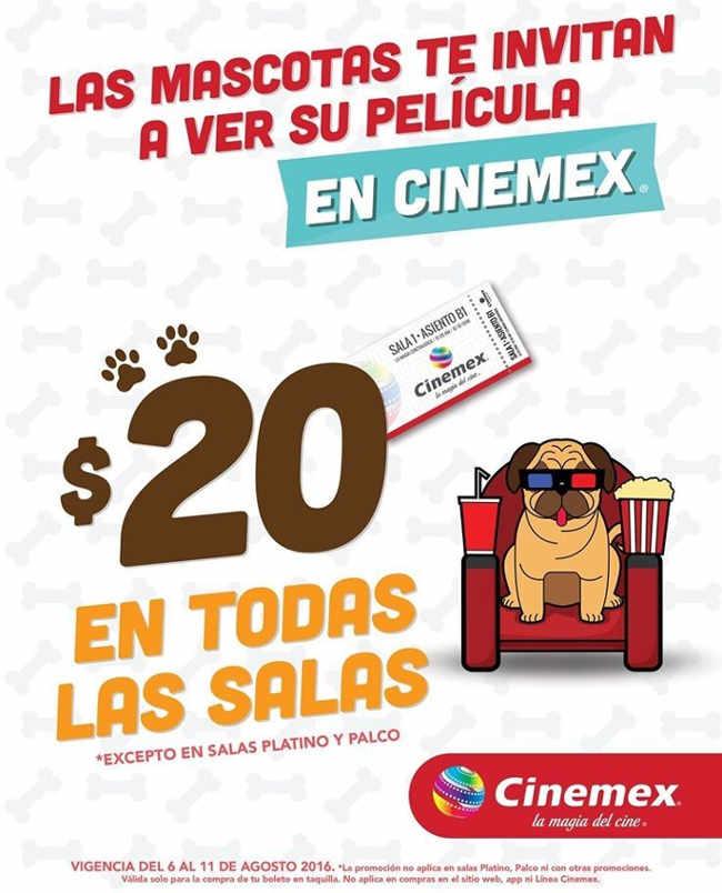 Promoción Cinemex La Vida Secreta de tus Mascotas Boletos