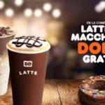Dunkin Donuts dona gratis comprando latte o macchiato