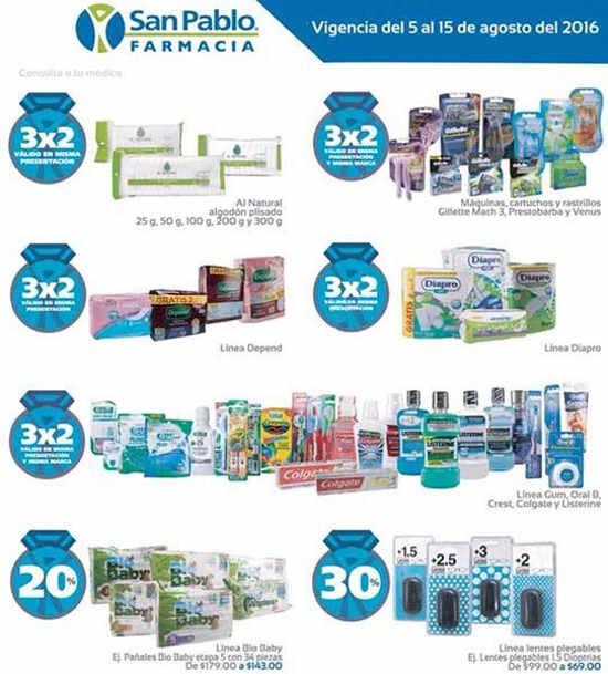 Ofertas Azules Farmacias San Pablo 5 al 15 de agosto