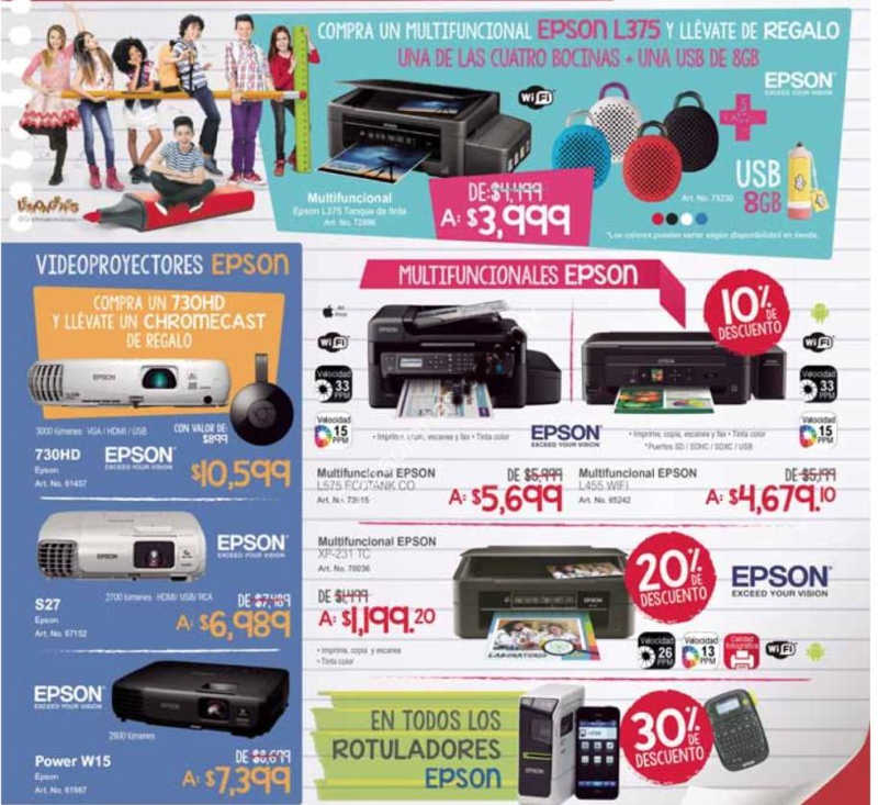 Folleto de ofertas en Office Depot Agosto 2016