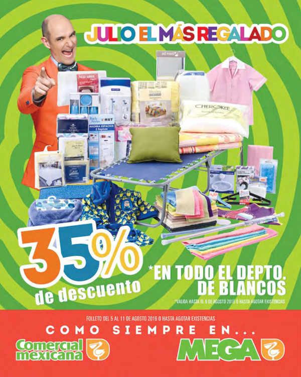 Folleto de Julio Regalado en Soriana y Comercial Mexicana Agosto 2016