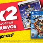 Gamers 3×2 en juegos seminuevos garantizados